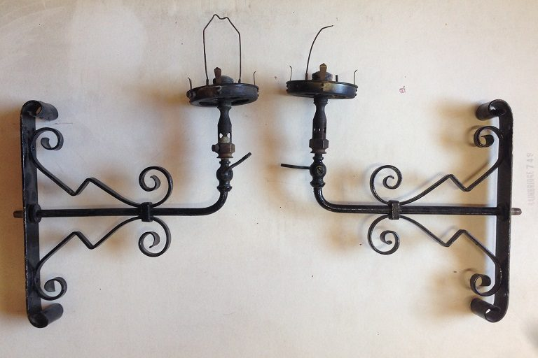 Original gaslights, early Victorian wall brackets $150 each salvage recycled demolition, reproduction restoration, renovation, collectable, secondhand, used, original, old, reclaimed heritage, antique restored