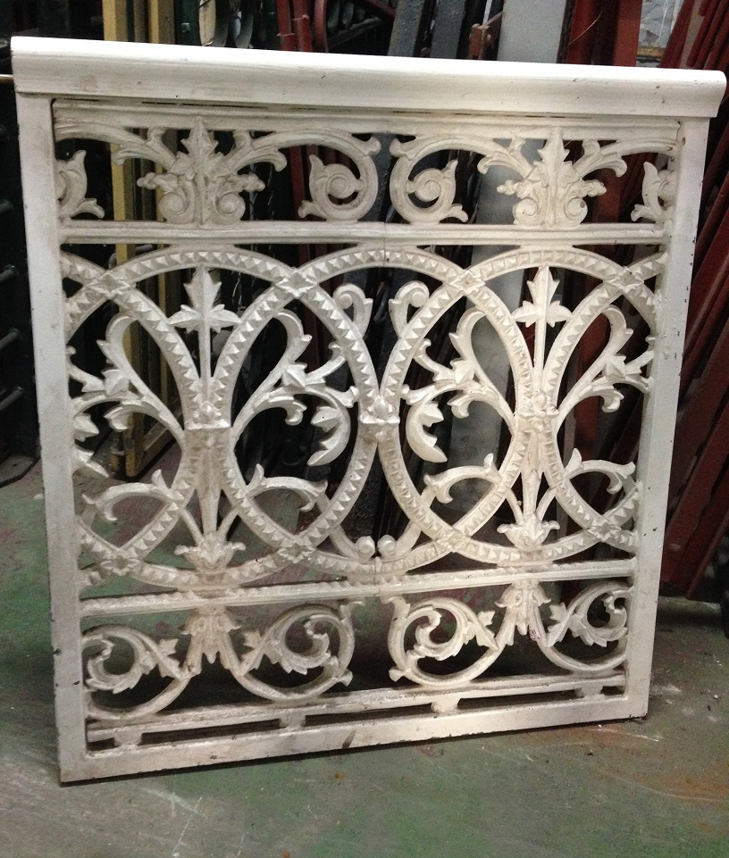 Timber and cast iron gate w790 x w855 $345