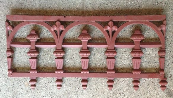 original Victorian cast iron, ex-Melbourne Frieze length L720mm x H590mm, $85 each frieze length salvage recycled demolition, reproduction restoration, renovation, collectable, secondhand, used, original, old, reclaimed heritage, antique restored