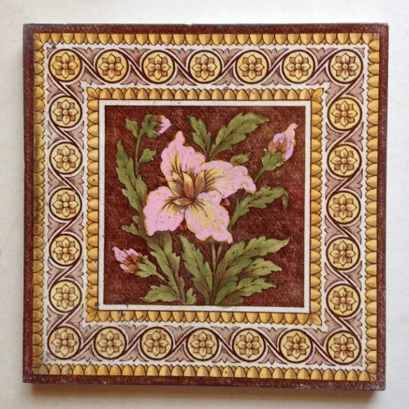 pair of original fireplace tiles, 152 mm x 152 mm , $55 the pair , set 11 salvage recycled demolition, reproduction restoration, renovation, collectable, secondhand, used, original, old, reclaimed heritage, antique restored