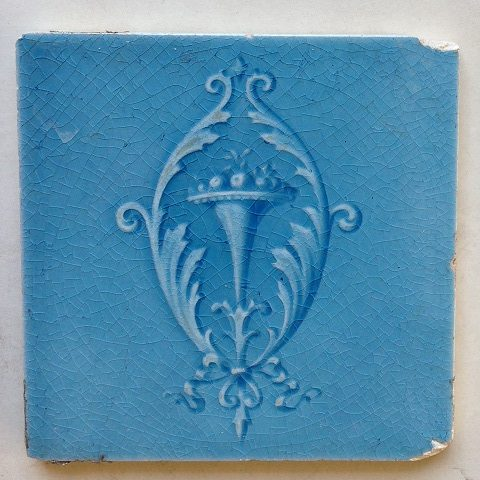 Original Victorian tiles, one tile has chips on 2 corner $25 and $35 WS