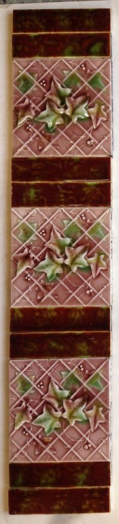 original fireplace tile set, each side is 3 picture tiles and 4 half tiles , $ 200 the set . Set 24 salvage recycled demolition, reproduction restoration, renovation, collectable, secondhand, used, original, old, reclaimed heritage, antique restored