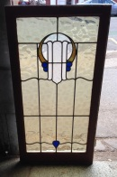 Original leadlight window, frame 570 x 1125mm, glass 470 x 970mm, $240 salvage recycled demolition, reproduction restoration, renovation, collectable, secondhand, used, original, old, reclaimed heritage, antique restored stained glass