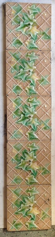 original victorian tile set for fire place, 10 picture tiles to the set, $ 250 the set. Set 29 salvage recycled demolition, reproduction restoration, renovation, collectable, secondhand, used, original, old, reclaimed heritage, antique restored