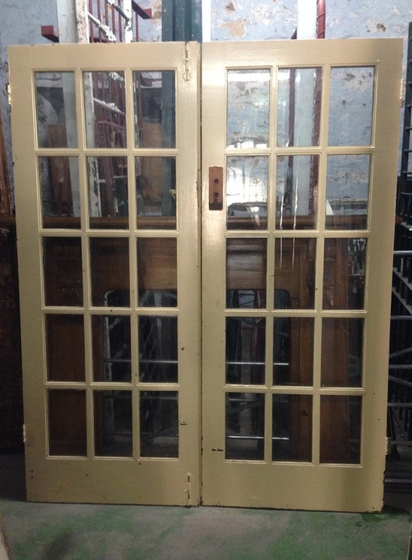 Pair of colonial French doors good cond 1615wide x 2033high $400
