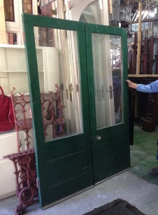 French doors, external glass top w1510 x h2125mm $450