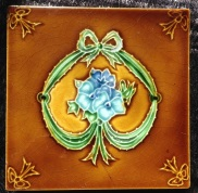 Fireplace tiles, original Victorian, 2 available $27.50 each salvage recycled demolition, reproduction restoration, renovation, collectable, secondhand, used, original, old, reclaimed heritage, antique restored