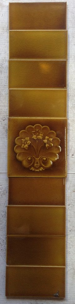 Two matching fireplace tile panels, original $100 for the pair salvage recycled demolition, reproduction restoration, renovation, collectable, secondhand, used, original, old, reclaimed heritage, antique restored salvaged recycled demolition, reproduction, restoration, renovation,collectable, secondhand, used , original, old, reclaimed, heritage, antique, victorian, edwardian, georgian art nouveau ceramic arts and crafts decorative aesthetic