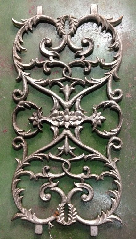 Cast iron balustrading / decorator panels $75 each salvage recycled demolition, reproduction restoration, renovation, collectable, secondhand, used, original, old, reclaimed heritage, antique restored