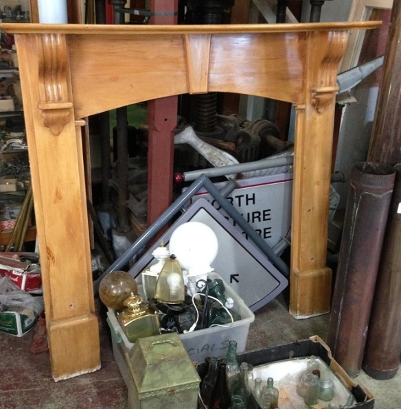 Timber fireplace mantel h1375 and top shelf width 1465mm salvage recycled demolition, reproduction restoration, renovation, collectable, secondhand, used, original, old, reclaimed heritage, mantle mantel surround fireplace antique restored