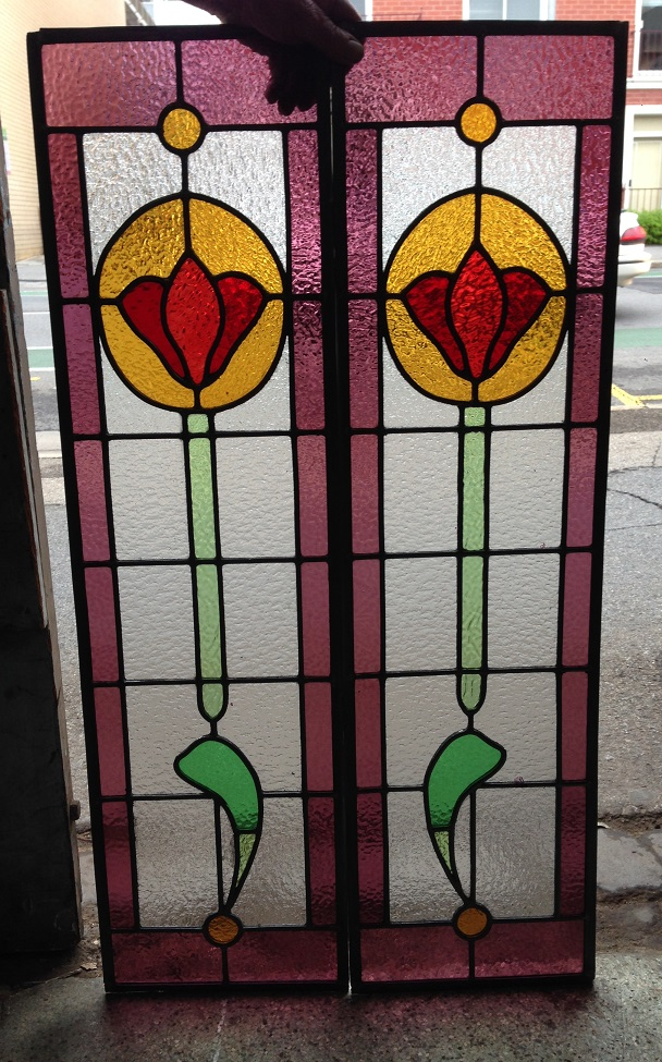 Leadlight window panels 275 x 995mm $275 each panel