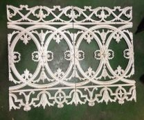 Verandah balustrade panels, original cast iron approx. approx. 9.6m available, each panel w510 x h815mm salvage recycled demolition, reproduction restoration, renovation, collectable, secondhand, used, original, old, reclaimed heritage, antique restored