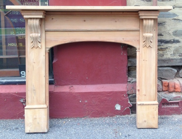 Original stripped Baltic pine fireplace mantel top shelf width 1635mm $545 salvage recycled demolition, reproduction restoration, renovation, collectable, secondhand, used, original, old, reclaimed heritage, antique restored