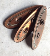 original handle plates copper finish L205mm $5 each