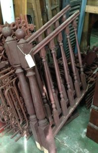 stair balusters, rails, newel posts $150 salvage recycled demolition, reproduction restoration, renovation, collectable, secondhand, used, original, old, reclaimed heritage, antique restored