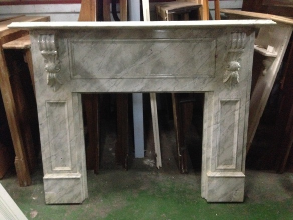 Faux marble paintwork on MDF mantel, top shelf width 1600mm, $330 salvage recycled demolition, reproduction restoration, renovation, collectable, secondhand, used, original, old, reclaimed heritage, mantle mantel surround fireplace antique restored