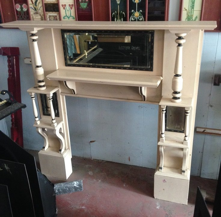 Edwardian double shelf fireplace mantel, large proportions, top shelf width 1685, Height 1580, opening width 920 & height 920mm, $575 salvage recycled demolition, reproduction restoration, renovation, collectable, secondhand, used, original, old, reclaimed heritage, mantle mantel surround fireplace antique restored