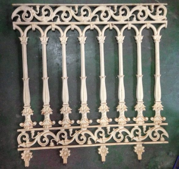 Original verandah balustrade, cast iron w800 x h820mm x 15 available $220 each salvage recycled demolition, reproduction restoration, renovation, collectable, secondhand, used, original, old, reclaimed heritage, antique restored
