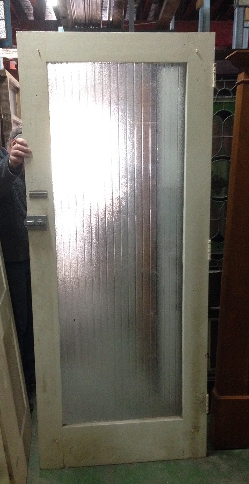 1950s front door reeded glass 860w x 2080h $300