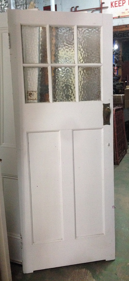 external glass top bungalow door 800wx2030h $330 salvage recycled demolition, reproduction restoration, renovation, collectable, secondhand, used, original, old, reclaimed heritage, antique restored