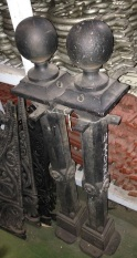 Original Victorian era heavy cast iron bollards h 950mm, $440 each