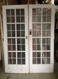 External French doors, colonial style, ripple glass panels 1560 x 1 salvage recycled demolition, reproduction restoration, renovation, collectable, secondhand, used, original, old, reclaimed heritage, antique restored2120mm $440