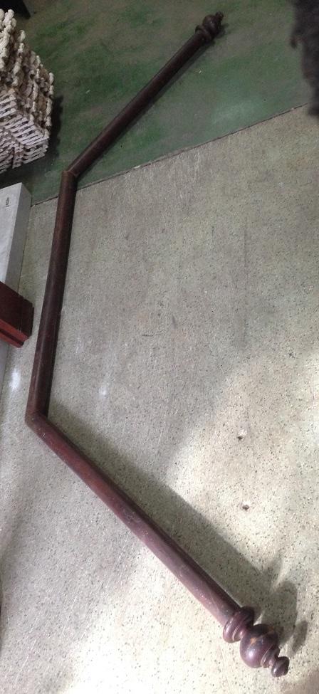 timber bay window curtain rail, 990 x 1260 x 990mm $80