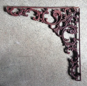 Double sided, two part corner, cast iron $75 each full corner salvaged, recycled, demolition, reproduction, restoration, home renovation secondhand, used , original, old, reclaimed, heritage, antique, victorian, art nouveau edwardian, georgian, art deco