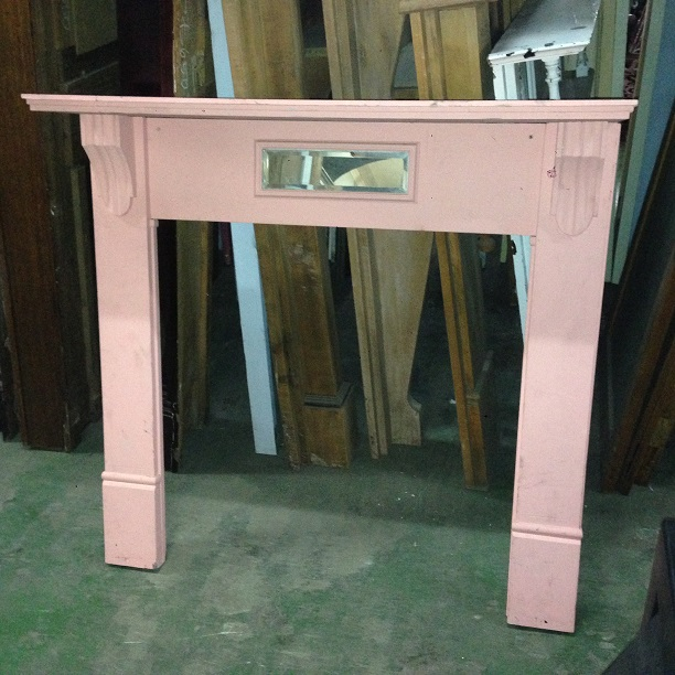 Painted timber original mantel, top shelf width 1225mm $200 salvaged, recycled, demolition, reproduction, restoration, renovation, collectable, second hand, used, original, old, reclaimed, heritage, Victorian, Edwardian, Art Deco, Georgian