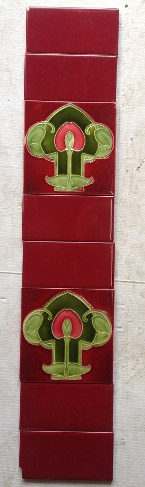 Original tubeline picture tiles, two panels available for a fireplace. $220 both panels