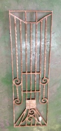Decorative wrought iron panel 370 x 1220mm, $220 salvage recycled demolition, reproduction restoration, renovation, collectable, secondhand, used, original, old, reclaimed heritage, antique restored