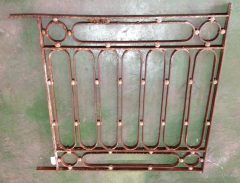 Decorative wrought iron panel 89 x 890mm, $220salvage recycled demolition, reproduction restoration, renovation, collectable, secondhand, used, original, old, reclaimed heritage, antique restored