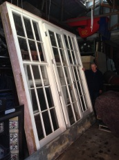 Large colonial style frame with sash windows and door, h2700 x w 2830, with full length bullnose slate step dimensions L2830 x D300 $2200