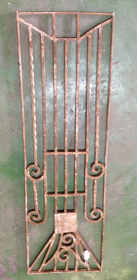 salvaged, recycled, demolition, reproduction, restoration, renovation, collectable, second hand, used, original, old, reclaimed, heritage, Victorian, Edwardia, Deco, Georgian decorative wrought iron panel , 375 mm x 1220 mm , $ 220