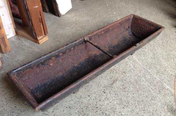 Pig trough, rustic cast iron, 890 x 245mm, $85