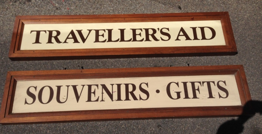 Ex Adelaide Train station signs (Travellers Aid has sold) heavy timber frame, $80 each