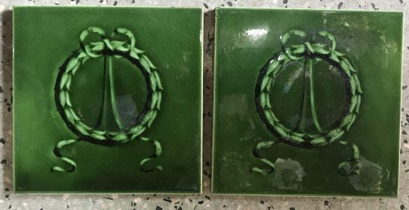 salvaged recycled demolition, reproduction, restoration, renovation,collectable, secondhand, used , original, old, reclaimed, heritage, antique, victorian, edwardian, georgian art nouveau ceramic arts and crafts decorative aesthetic , Victorian, Edwardia, Deco, Georgian original fireplace picture tiles, 152 mm x 152 mm, 7 available , $25 each tile , Set 38