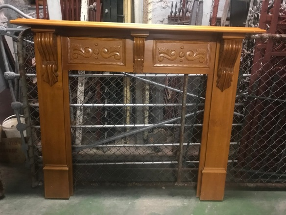 salvaged, recycled, demolition, reproduction, restoration, renovation, collectable, second hand, used, original, old, reclaimed, heritage, Victorian, Edwardia, Deco, Georgian reproduction pine mantle piece , top shelf is 1440 mm , total height is 1230 mm $245
