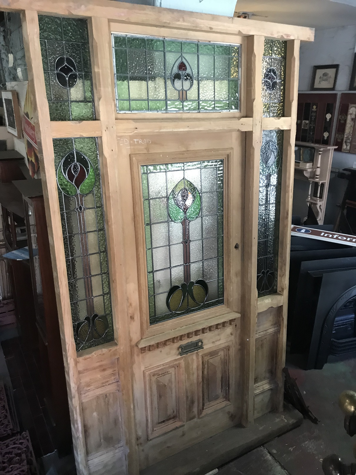 Doors windows and frames federation trading salvaged recycled demolition reproduction restoration renovation collectable second hand original victorian stripped front door rubansaba