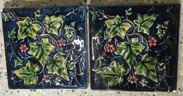 salvaged recycled demolition, reproduction, restoration, renovation,collectable, secondhand, used , original, old, reclaimed, heritage, antique, victorian, edwardian, georgian art nouveau ceramic arts and crafts decorative aesthetic Georgian set of four original victorian picture tiles, $ 110 the set . Set 64