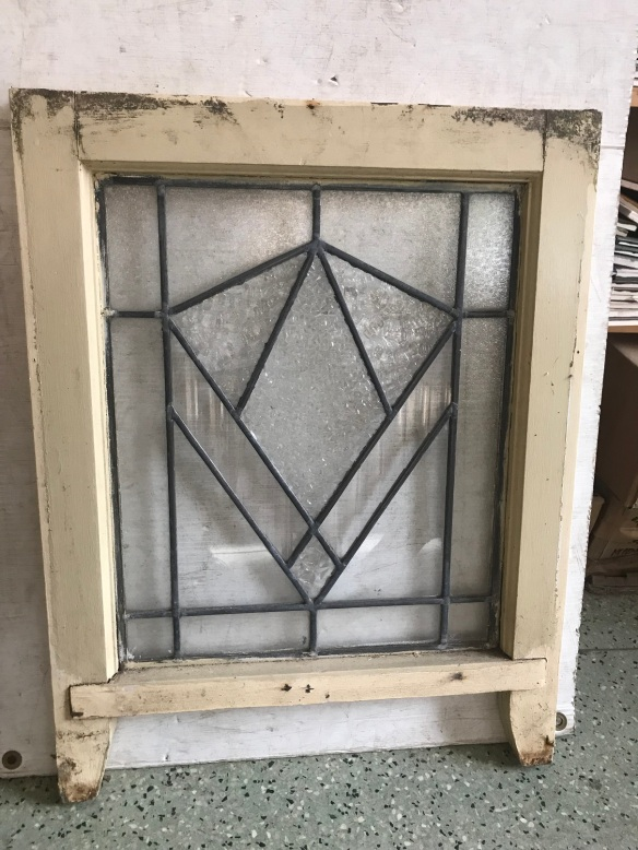Clear Art Deco leadlight panel in frame, frame 480 mm wide x540 mm high, glass size is 380 mm x 455mm , 6 available , $ 145 each salvaged, recycled, demolition, reproduction, restoration, renovation, collectable, second hand, used, original, old, reclaimed, heritage, Victorian, Edwardia, Deco, Georgian leadlight panels in frame, frame 480 mm wide x540 mm high, glass size is 380 mm x 455mm , 6 available , $ 145 each salvage recycled demolition, reproduction restoration, renovation, collectable, secondhand, used, original, old, reclaimed heritage, antique restored stained glass