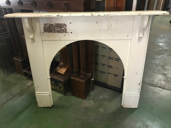 salvaged, recycled, demolition, reproduction, restoration, renovation, collectable, second hand, used, original, old, reclaimed, heritage, Victorian, Edwardian, Art Deco, Georgian original kauri pine fire surround, top shelf is 1475 mm , 1220 mm high , $ 330