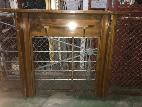 salvaged, recycled, demolition, reproduction, restoration, renovation, collectable, second hand, used, original, old, reclaimed, heritage, Victorian, Edwardian, Art Deco, Georgian Original Bungalow style mantlepiece , top shelf is 1480 mm x 1235 high $285