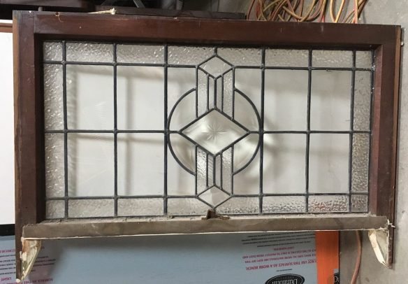 Art deco sash window , frame size is 965 mm wide x 540 mm , glass size is 860 mm x 460 mm, $ 285 salvage recycled demolition, reproduction restoration, renovation, collectable, secondhand, used, original, old, reclaimed heritage, antique restored stained glass