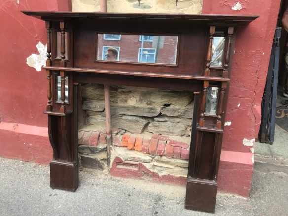 salvaged, recycled, demolition, reproduction, restoration, renovation, collectable, second hand, used, original, old, reclaimed, heritage, Victorian, Edwardian, Art Deco, Georgian Edwardian Kauri pine mantlepiece, top shelf is 1530 mm x 1410 mm tall $ 440