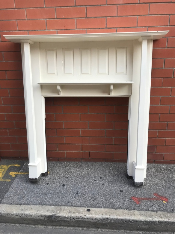 salvaged, recycled, demolition, reproduction, restoration, renovation, collectable, second hand, used, original, old, reclaimed, heritage, Victorian, Edwardian, Art Deco, Georgian Bungalow style mantlepiece, made from Blackwood, top shelf is 1520 mm x 1510 mm tall, $ 440