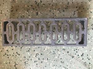 Vent 12 , single cast iron vent , 225 mm x 77 mm , $ 28.50 each