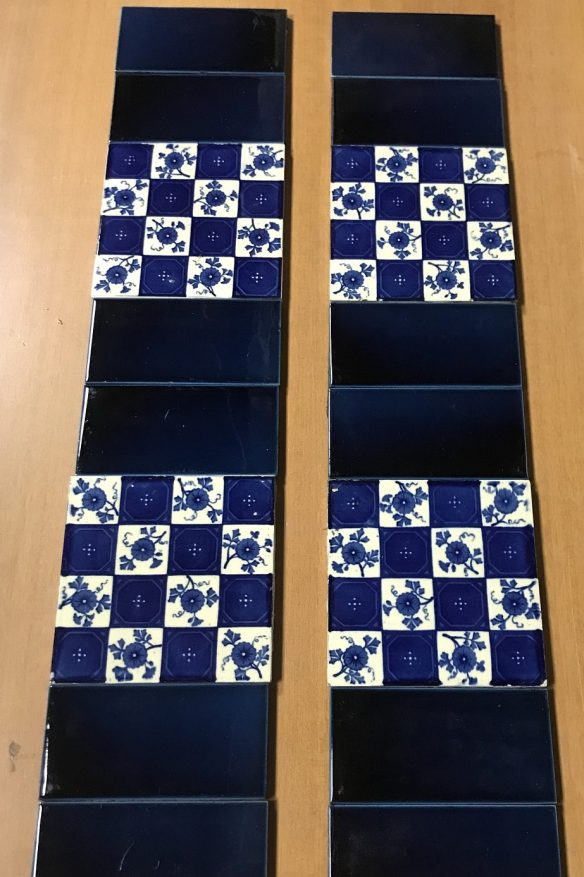 original Victorian blue and white picture tiles for fireplace, $150 the set salvaged, recycled, demolition, reproduction, restoration, renovation, collectable, second hand, used, original, old, reclaimed, heritage, Victorian, Edwardian, Art Deco, Georgian original tile set to suit fireplace, picture tiles and plain tiles $ 150 the set OTB