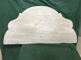 salvaged, recycled, demolition, reproduction, restoration, renovation, collectable, second hand, used, original, old, reclaimed, heritage, Victorian, Edwardian, Art Deco, Georgian Marble top to suit Credenza , Washstand or Hall Table, with decorative edge. $ 350