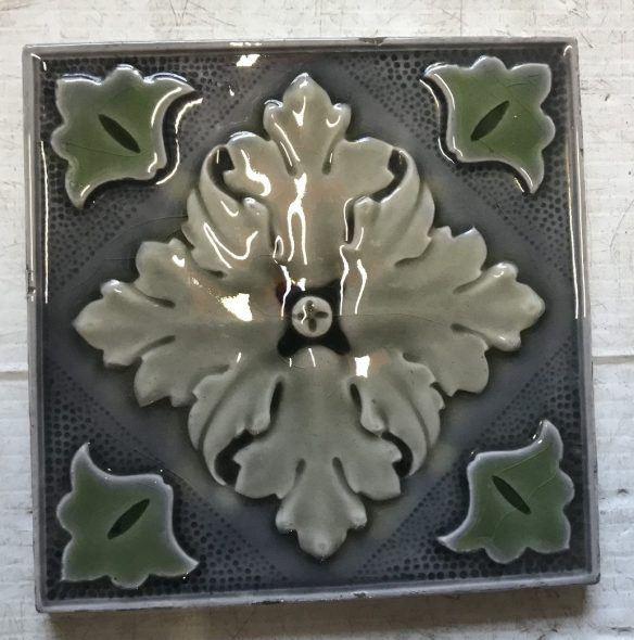 salvaged recycled demolition, reproduction, restoration, renovation,collectable, secondhand, used , original, old, reclaimed, heritage, antique, victorian, edwardian, georgian art nouveau ceramic arts and crafts decorative aesthetic Victorian fireplace tiles , 6 inch x 6 inch, $ 2750 each, 2 available, WS